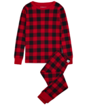 Hatley Little Blue House Kid's PJ Set Buffalo Plaid