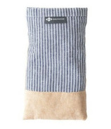 Halfmoon Linen Eye Pillow Pinstripe Straw Lavender