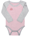 Juddlies Organic Raglan Long Sleeve Body Tee Dogwood Pink