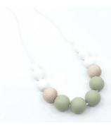 Little Cheeks Duo Necklace Sage