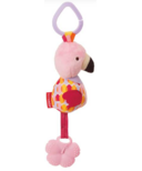 Skp Hop Bandana Buddies Chime & Teethe Toy Flamingo