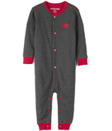 Hatley Bear Naked on Charcoal Baby Union Suit