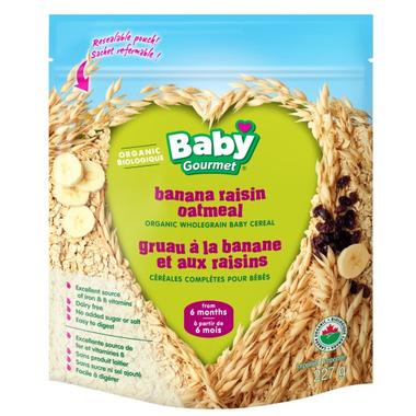 Baby Gourmet Organic Banana Raisin Oatmeal