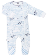Kushies Side Zip Sleeper Making Waves Light Blue Print