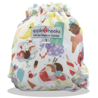 Applecheeks Little Bundle Microterry Whirl\'d Peace