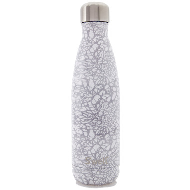 S\'well Monochrome Collection Stainless Steel Water Bottle White Lace