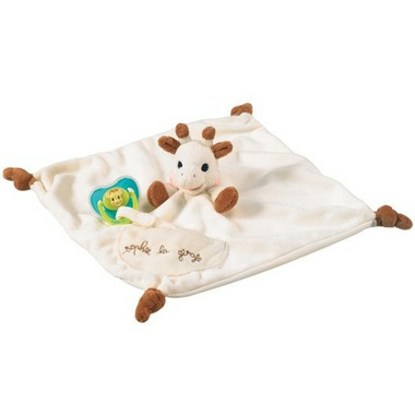 Sophie the Giraffe Blanket with Soother Holder