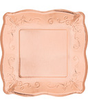 Elise Embossed Square Luncheon Plate Rose Gold