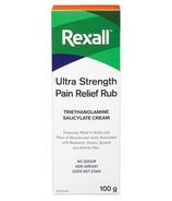 Rexall Ultra Strength Pain Relief Rub Sans Odeur