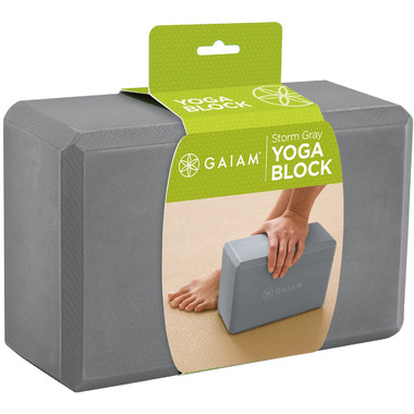 Gaiam Yoga Block Storm Grey
