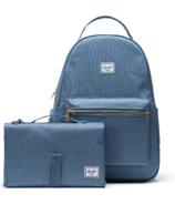 Herschel Supply Nova Sprout Backpack with Change Mat Blue Mirage Crosshatch