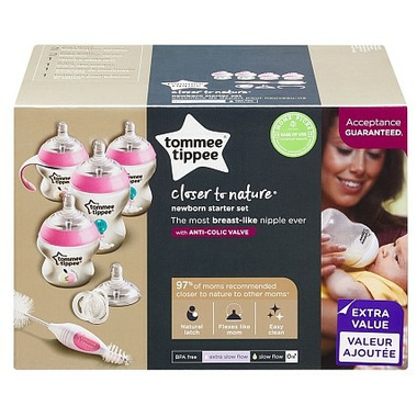 Tommee Tippee Closer to Nature Newborn Essentials Set Pink