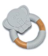 """babyworks Silicone & Beechwood Teething Ring """"Elly"""" Elephant"""