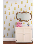 WallPops Gold Pineapple Wall Art Kit