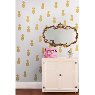 WallPops Gold Pineapple Wall Art Kit