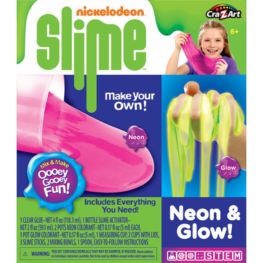 Cra-Z-Art Nickleodeon Slime Neon and Glow