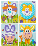 Melissa & Doug Safari Animals Wooden Chunky Jigsaw Puzzle Toddler