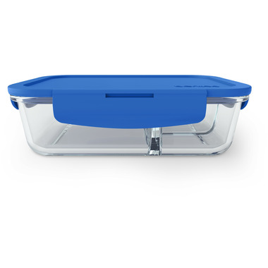Bentgo Large Glass Container with Leak-Proof Lid Blue