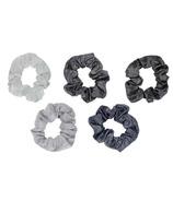 Kitsch Metallic Scrunchies Black And Gray
