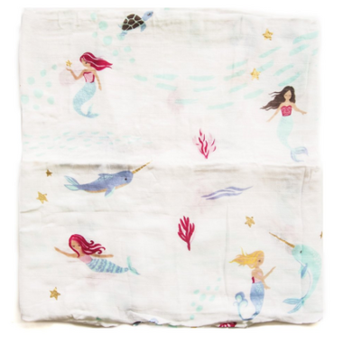 Loulou Lollipop Luxe Muslin Swaddle Blanket Mermaid