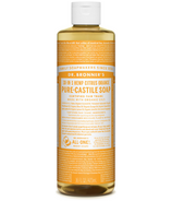 Dr. Bronner's Organic Pure Castile Liquid Soap Citrus Orange 16 Oz