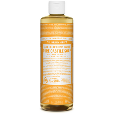Dr. Bronner\'s Organic Pure Castile Liquid Soap Citrus Orange 16 Oz