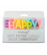 Great Pretenders Candles Happy Birthday Rainbow