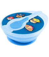 Paw Patrol Blue Suction Bowl with Lid & Spoon