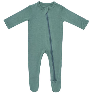 Kyte BABY Zippered Footie in Pine