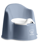 BabyBjorn Potty Chair Deep Blue & White