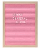 Drake General Store Felt Letter Board Large Pink