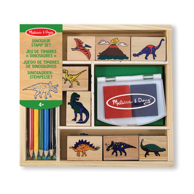 Melissa & Doug Wooden Stamp Set Dinosaurs