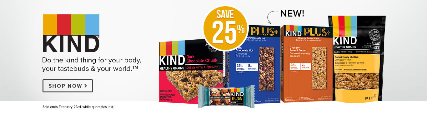Save 25% off Kind