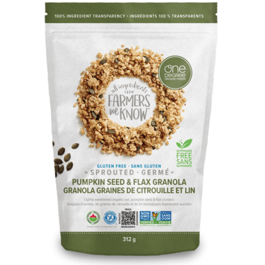 One Degree Sprouted Pumpkin Seed & Flax Granola