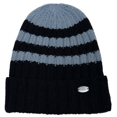 Calikids Toddler Cashmere Touch Hat Black Grey Combo
