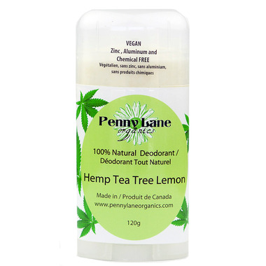 Penny Lane Organics Natural Deodorant Hemp Tea Tree Lemon