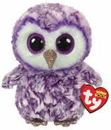 Ty Beanie Boo's Moonlight The Purple Owl Regular