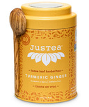 JusTea Turmeric Ginger Loose Leaf Tea Tin with Spoon