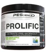 PEScience Prolific Pre-Workout Sour Green Apple