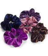 Zoe Ayla Velvet Scrunchies Purple Mix