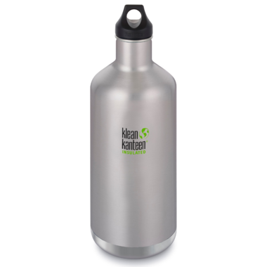 Klean Kanteen Insulated Classic With Loop Cap Brushed Stainless