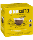 OneCoffee Organic Single Serve Coffee Peruvian Blend Dark Roast
