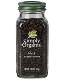 Simply Organic Whole Black Peppercorns