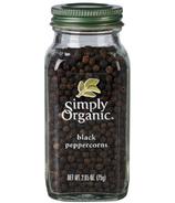 Poivre noir en grains entier de Simply Organic
