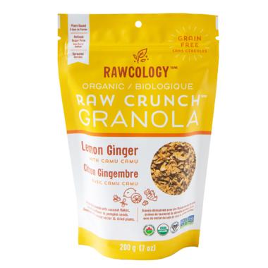 Rawcology Lemon Ginger Raw Crunch Granola