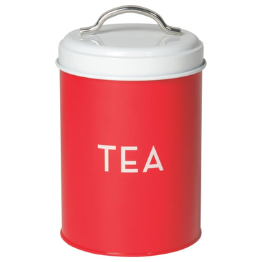 Now Designs Tin Tea Red
