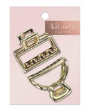 kitsch Mini Open Shape Claw Clips Gold