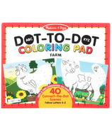 Melissa & Doug ABC Dot-to-Dot Farm Coloring Pad