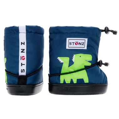 Stonz Navy Blue Dragon Toddler Booties