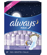 Always MAXI Pads Extra Heavy Overnight with Wings Unscented